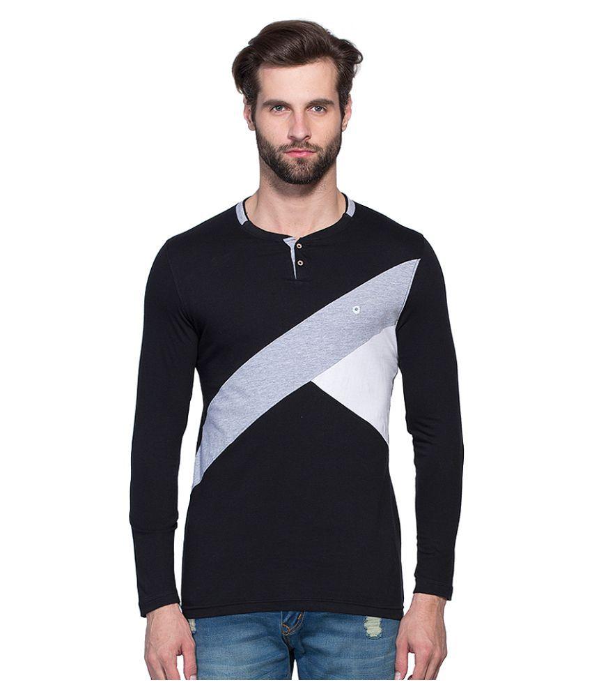 Maniac Black Henley T-Shirt