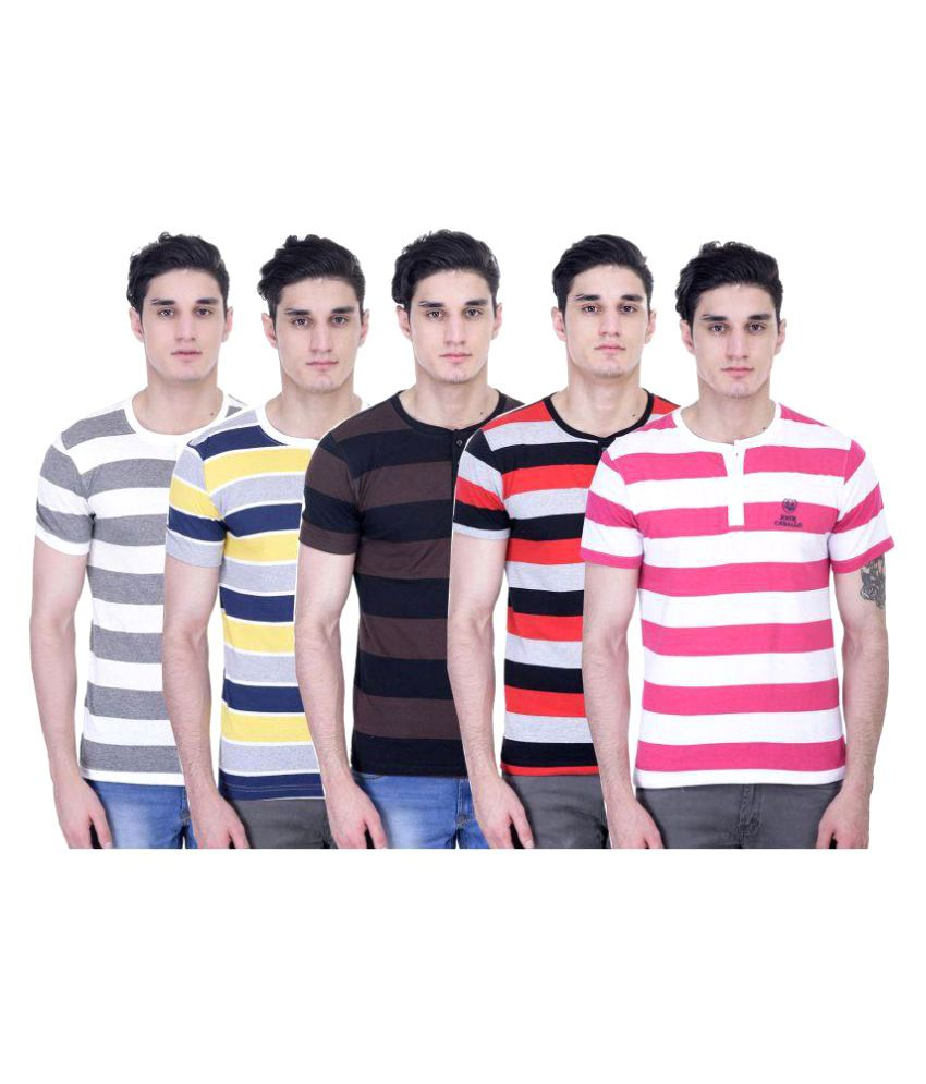 John Caballo Multi Round T-Shirt Pack of 5