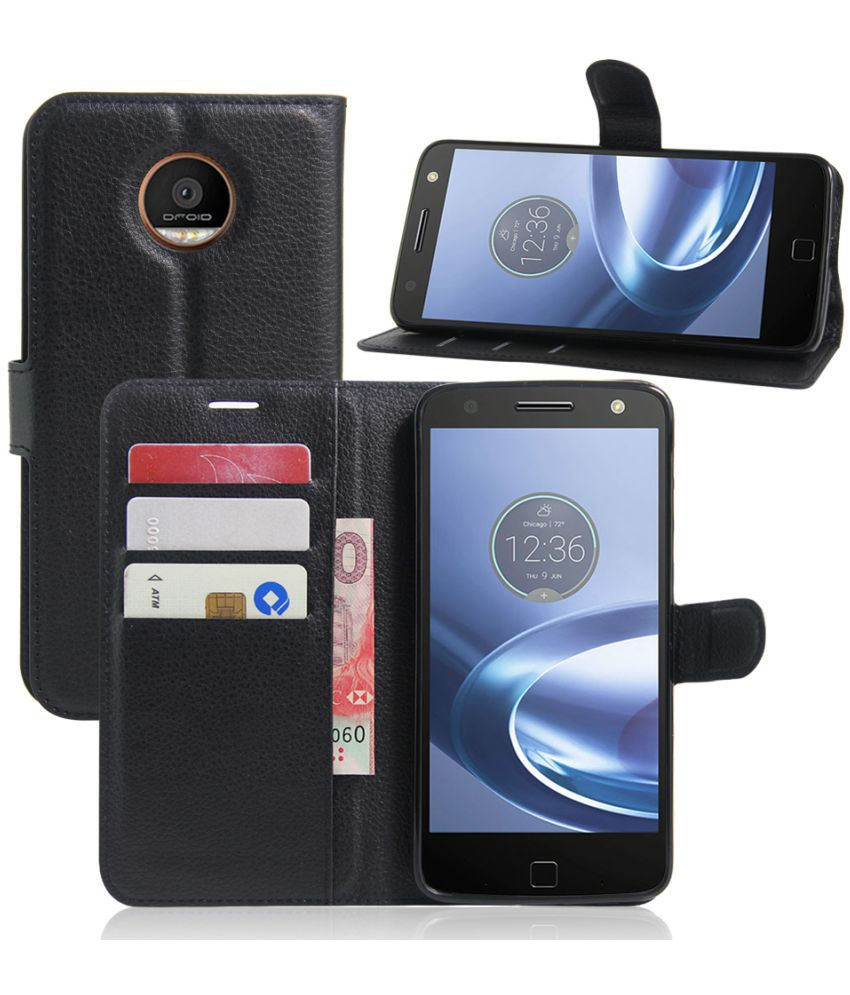 online store 6f66a 84f7b Moto Z Play Flip Cover by Excelsior - Black