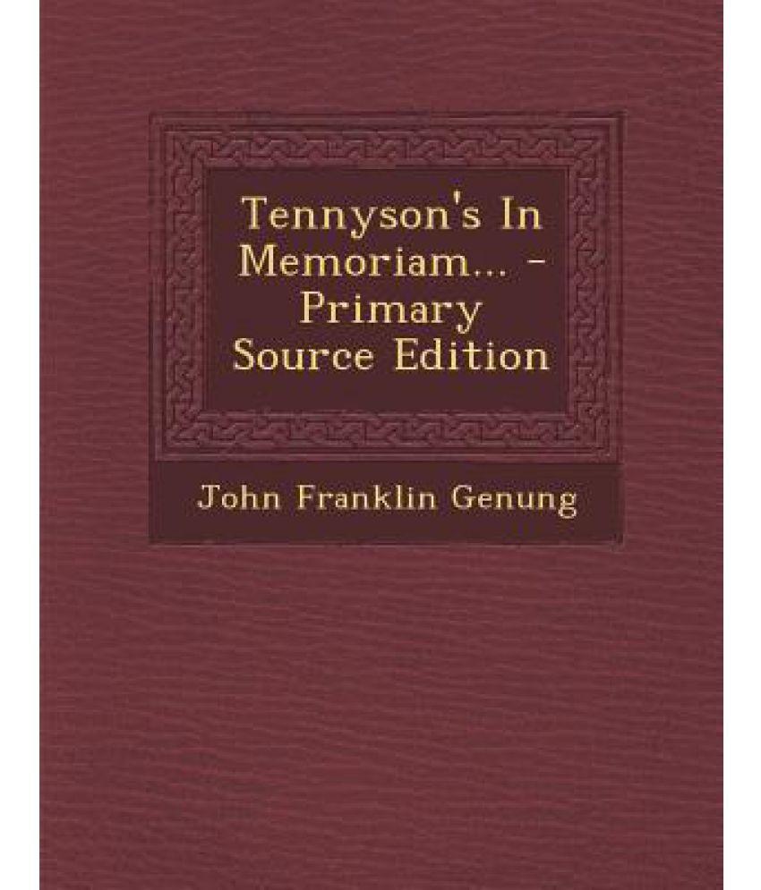 Tennyson's in Memoriam...: Buy Tennyson's in Memoriam ...