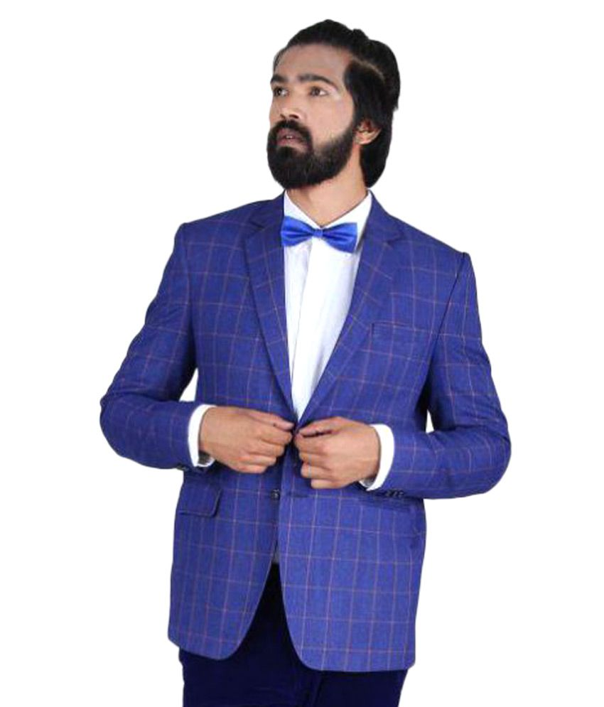 Blackthread Blue Checks Wedding Blazers