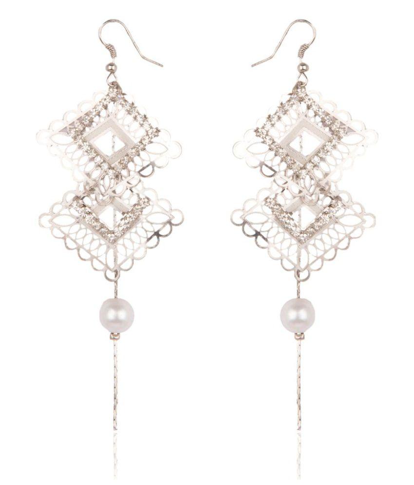 Diva Walk Silver Alloy Hangings Earrings