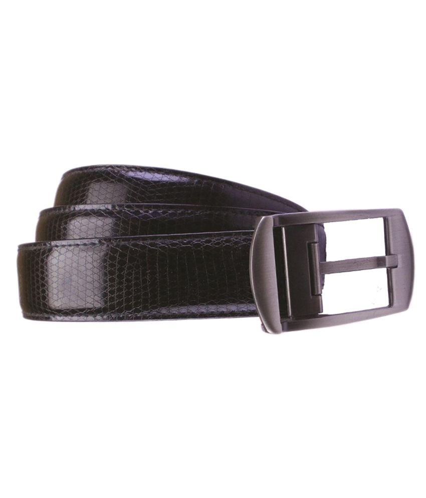 Emarsi Black Leather Casual Belts