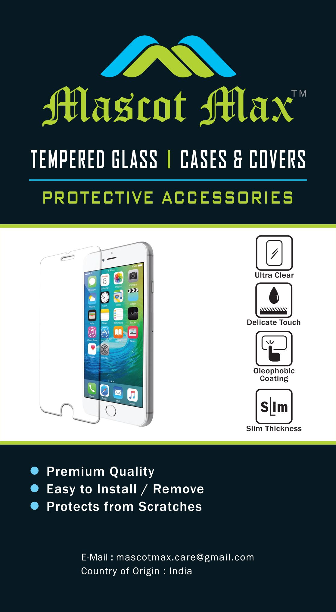 Lenovo K6 Note Tempered Glass Screen Guard By Mascot Max