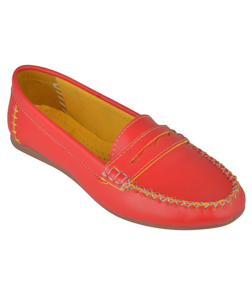 Exotique Red Loafers