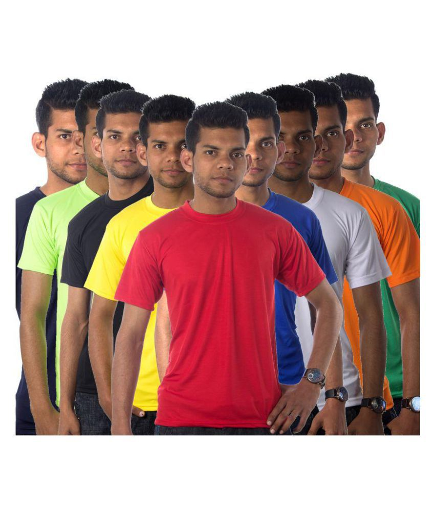 Part Of Life Multi Cotton Blend T-Shirt Pack of 9