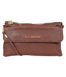 Lino Perros Brown Faux Leather Sling Bag - 640831058615