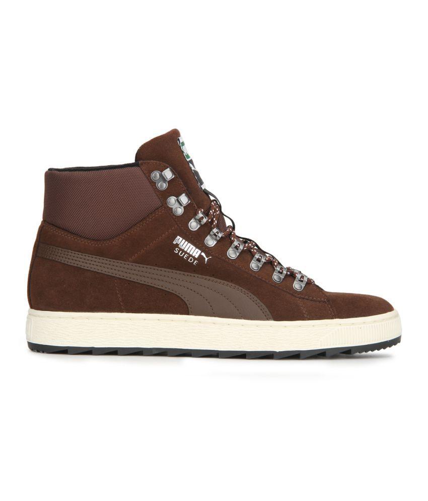 Puma Roma Basic Brown Casual Shoes - Buy Puma Roma Basic Brown ... 08495d60c