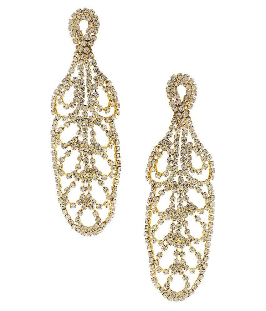 Anuradha Art Multicolour Finish Designer Classy Beautiful Party Wear Fancy Hanging Earrings for Women
