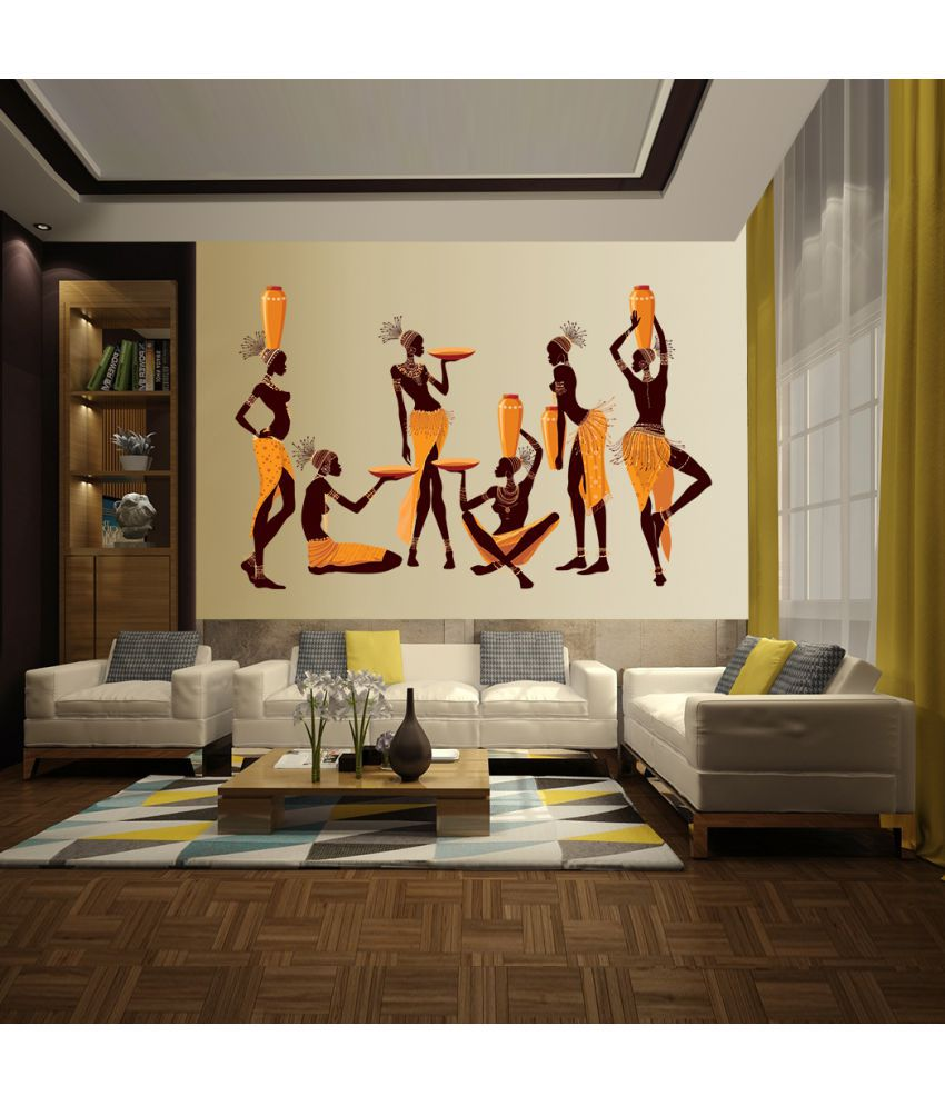 mpro tech african women wall decals uv print wall stickers films rh snapdeal com