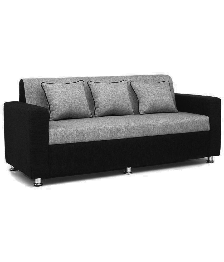 Black Sofa Part - 28: ... Bls Tulip Black Grey 3+1+1 Sofa Set ...