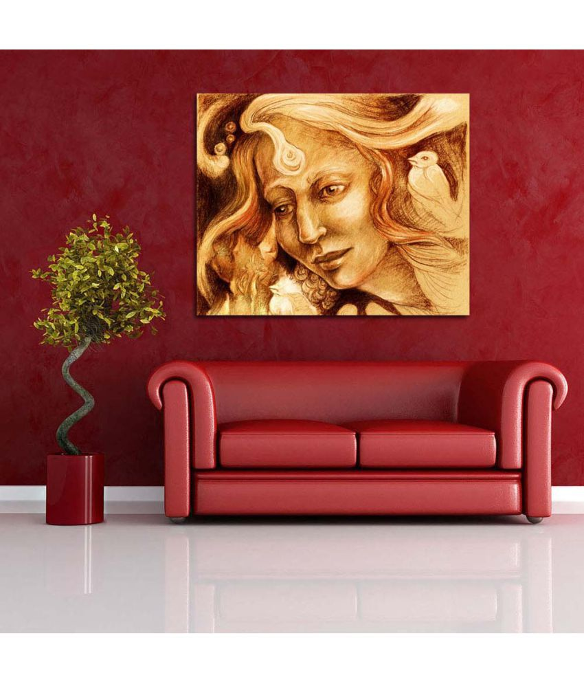 Pitaara Box Canvas Painting With Frame Single Piece