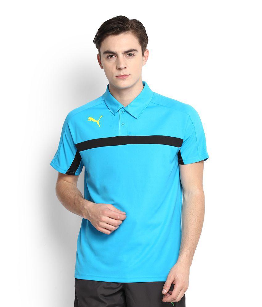 Puma Turquoise High Neck T-Shirt