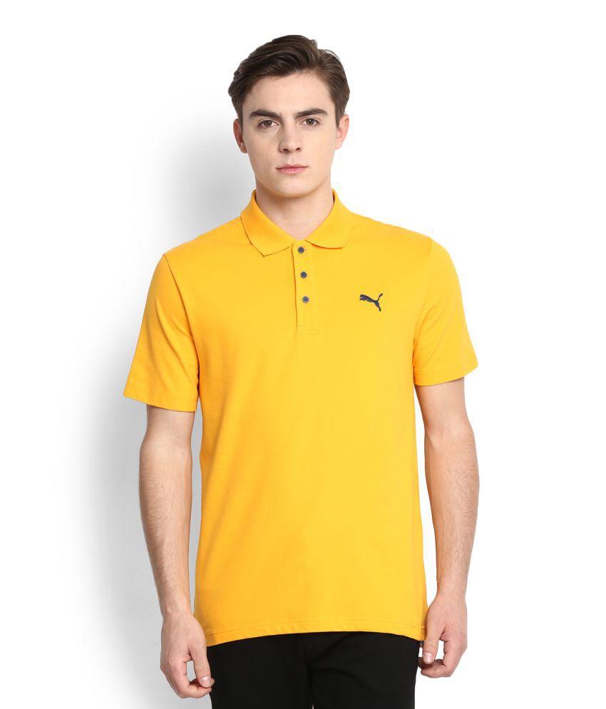 Puma Yellow High Neck T-Shirt