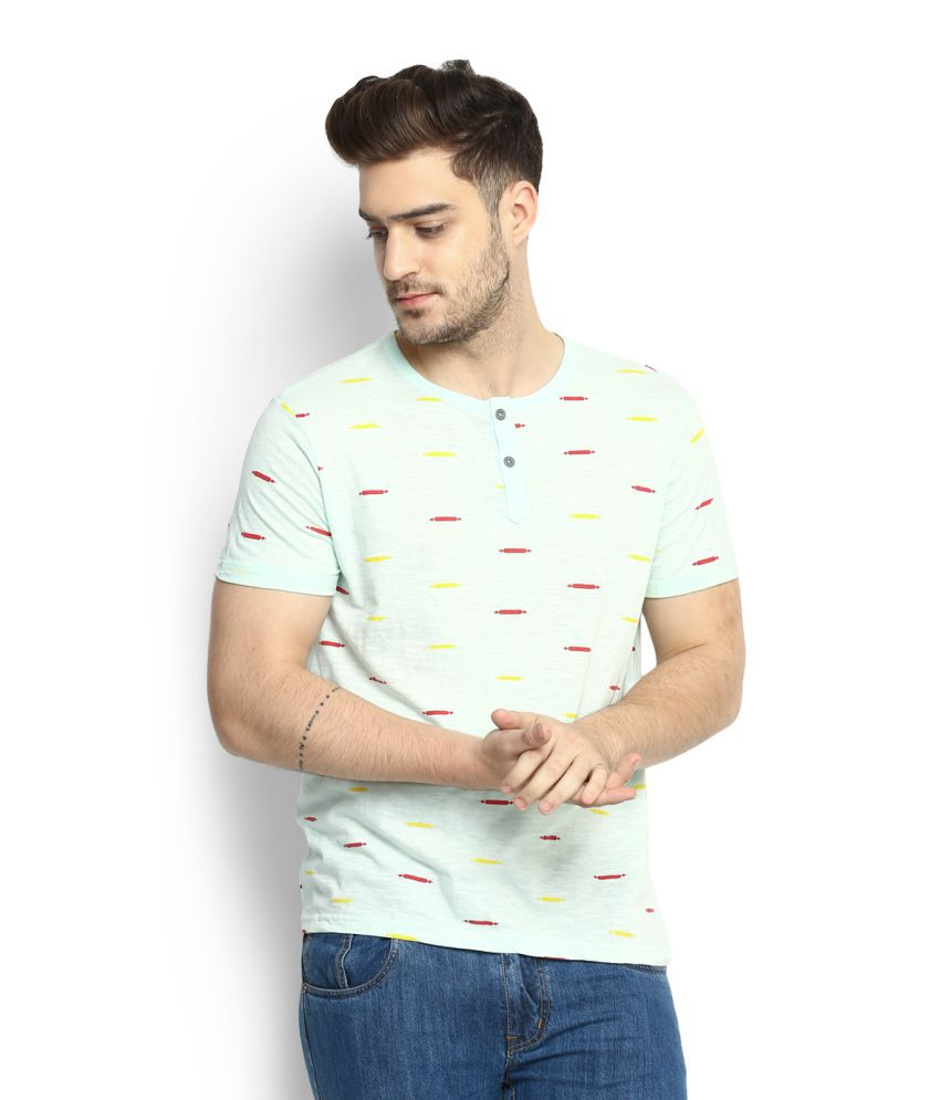 People Turquoise Round T-Shirt