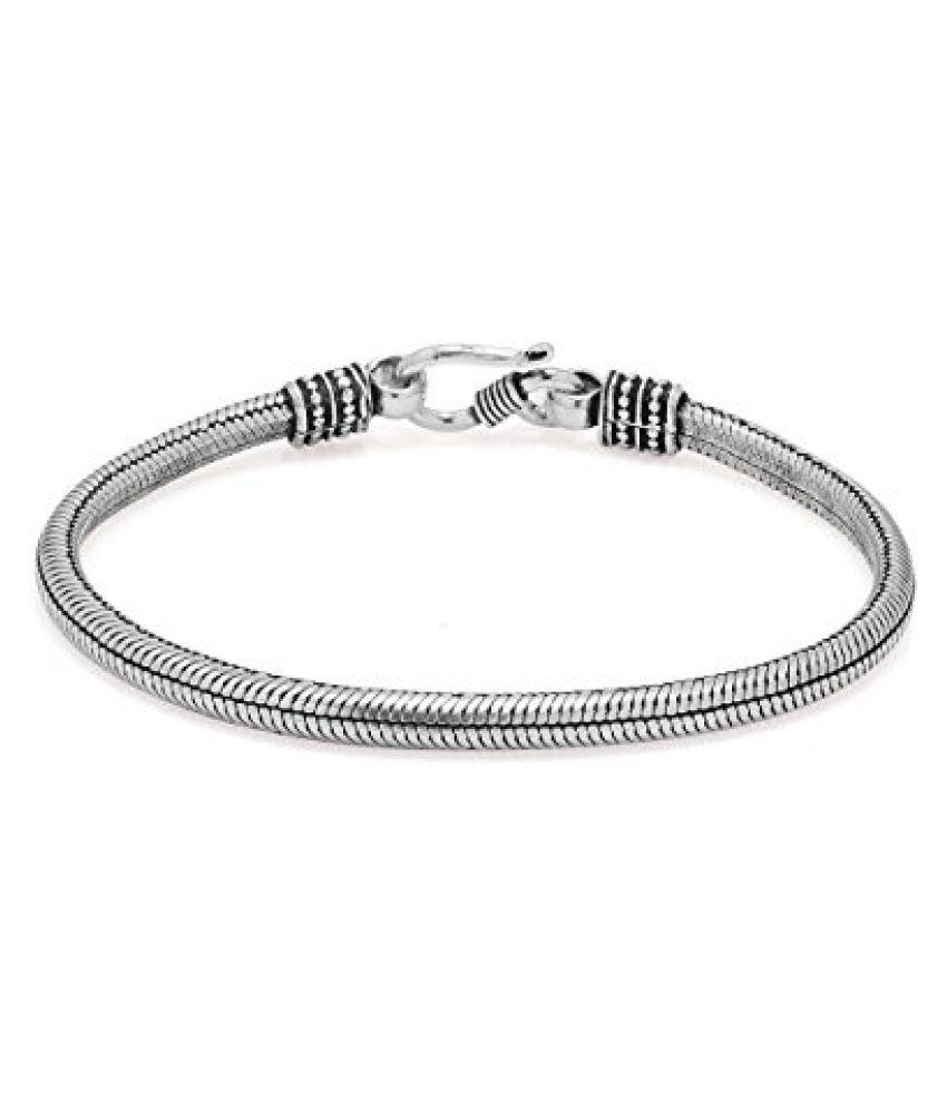 Voylla Alluring Sterling Silver Link Bracelet