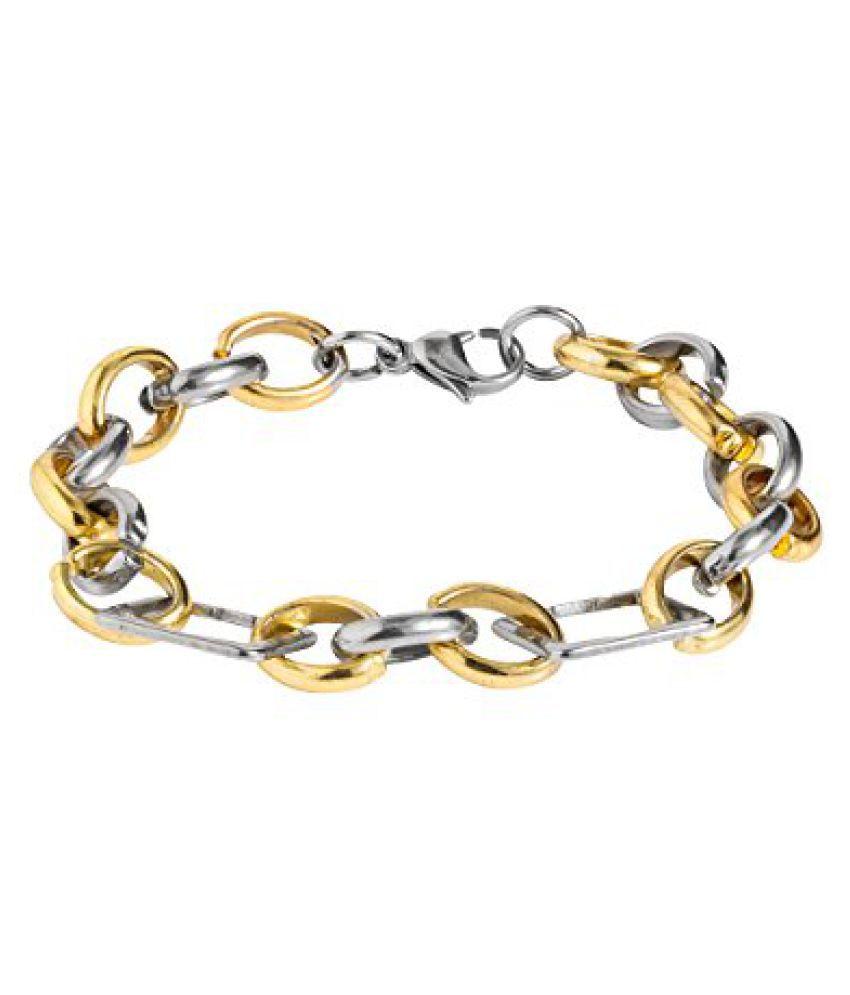 Voylla Dual Tone Link Stylish Bracelet