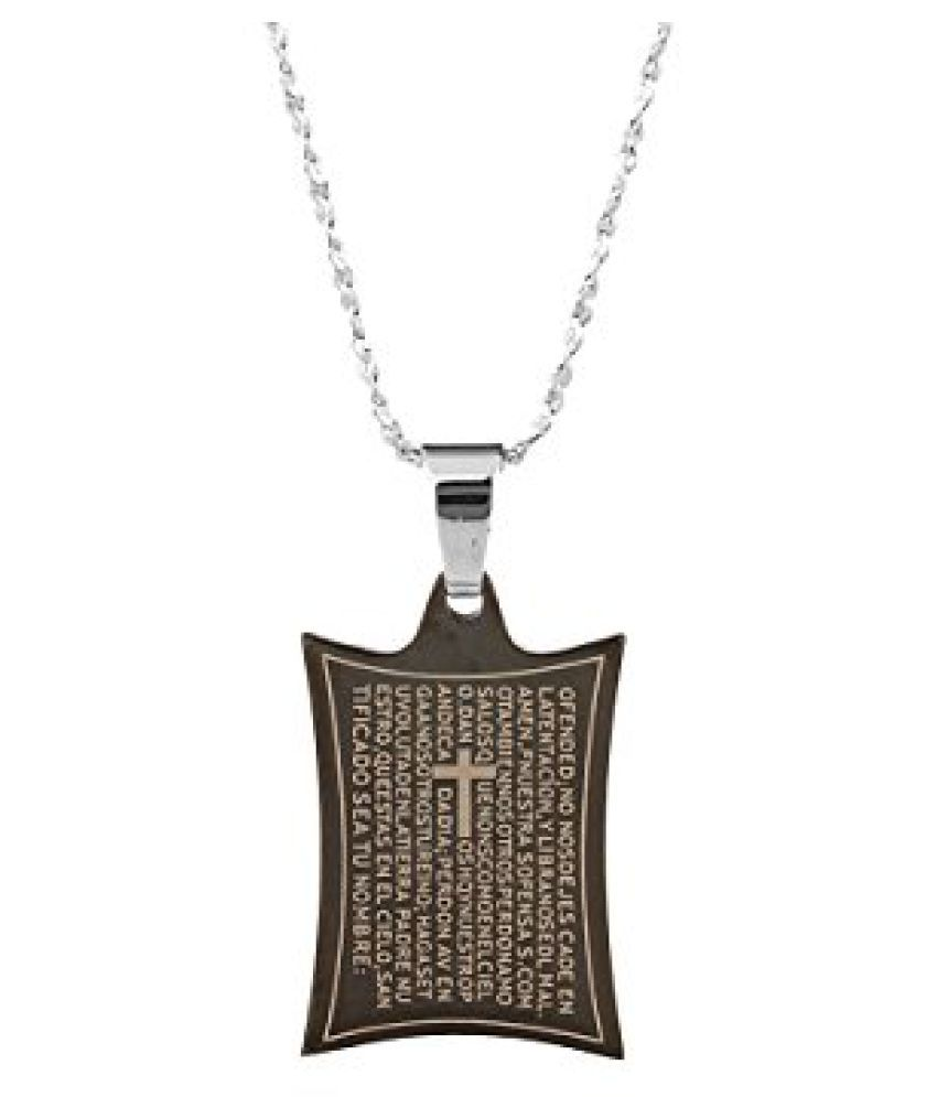Voylla Geometric Corners Design Religious Pendant With Chain