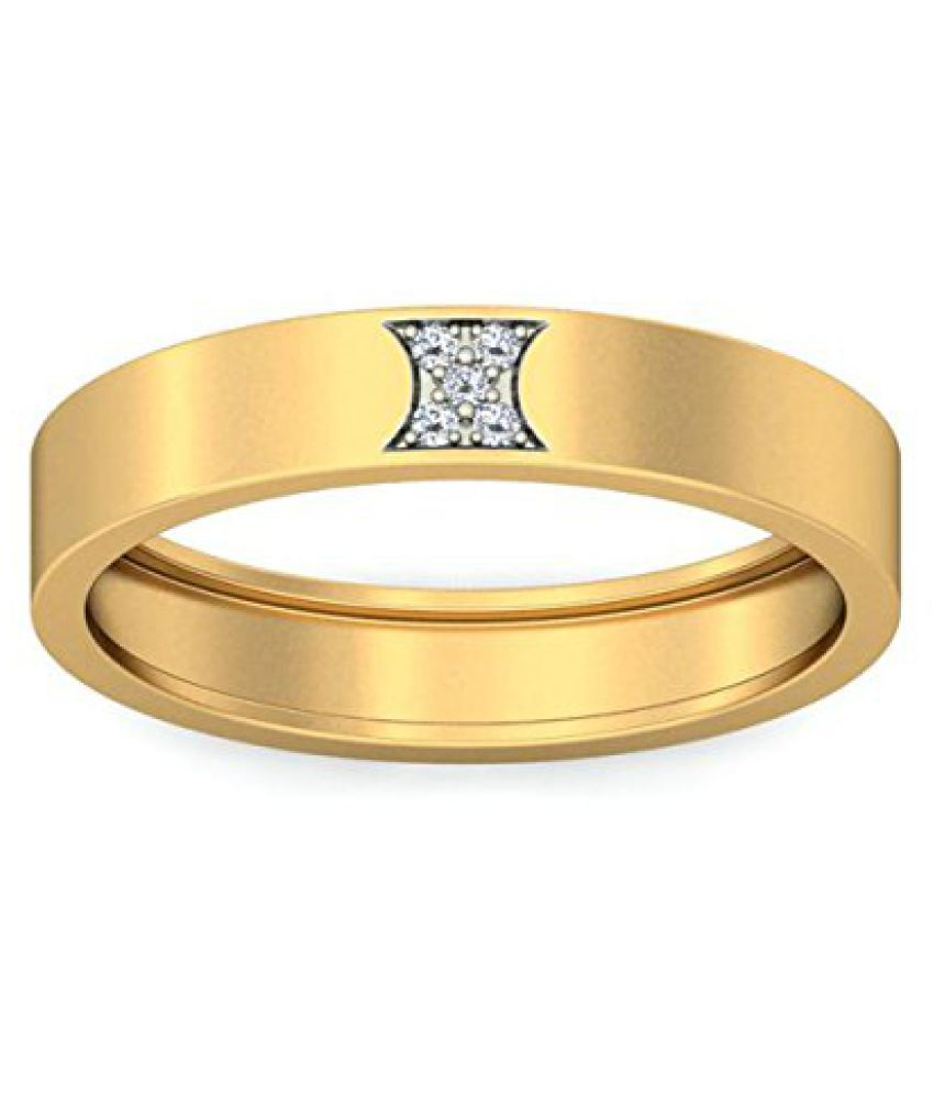 Voylla Gold Plated Men's Band Ring