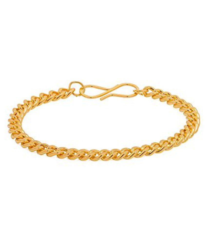 Voylla Sturdy Gold Tone Link Bracelet