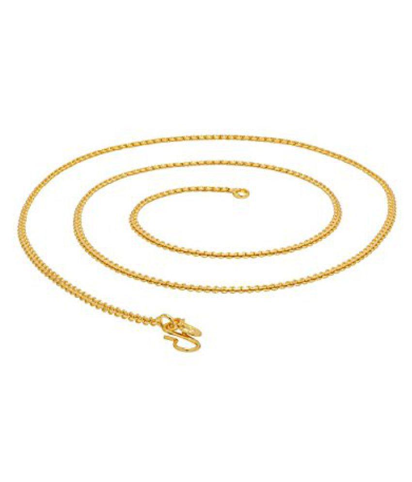 Voylla Stylish Mens Chain In Gold-Tone