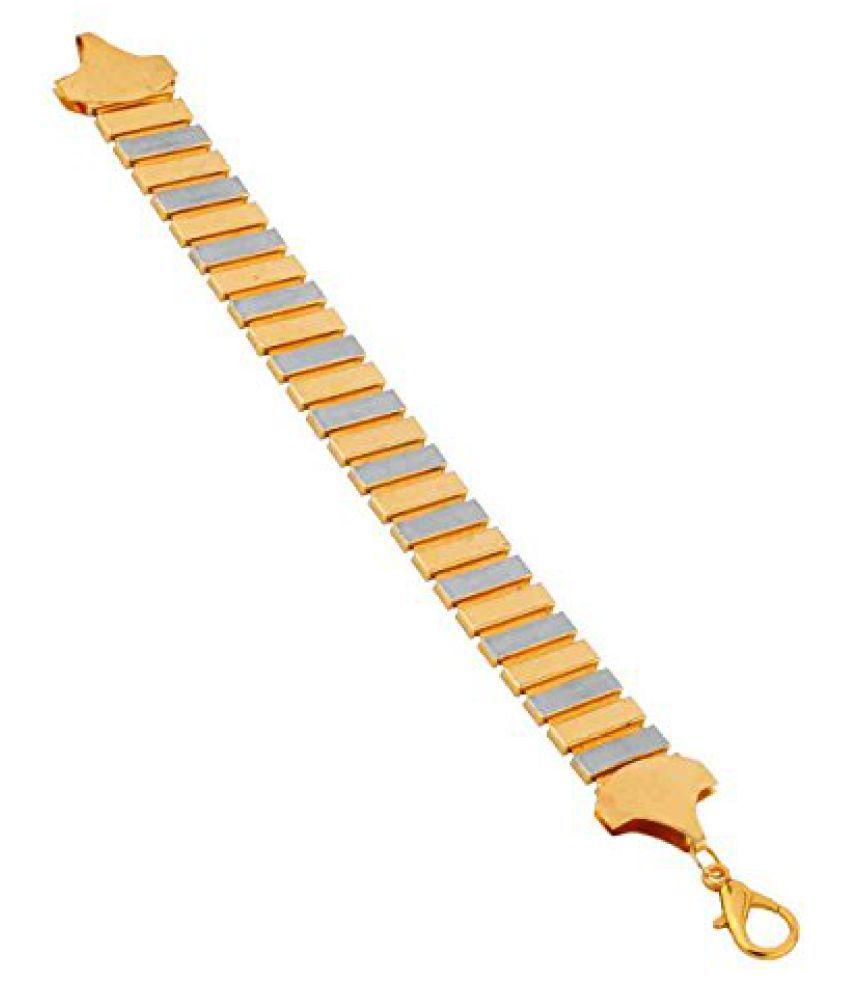 Voylla Trendy Gold Tone Bracelet For Men