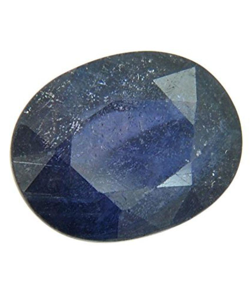 Barishh Natural Blue Sapphire Gemstone Oval Shape IGL Certified 12.25 Ratti