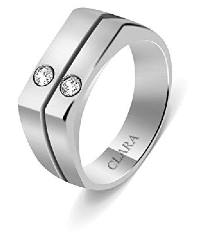 Clara Swarovski The Alano Sterling Silver Ring For Men