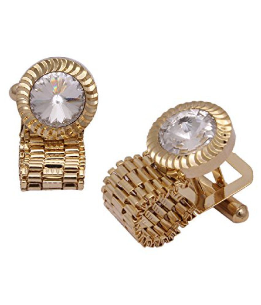 Sushito Stylish Designer Golden Cufflink
