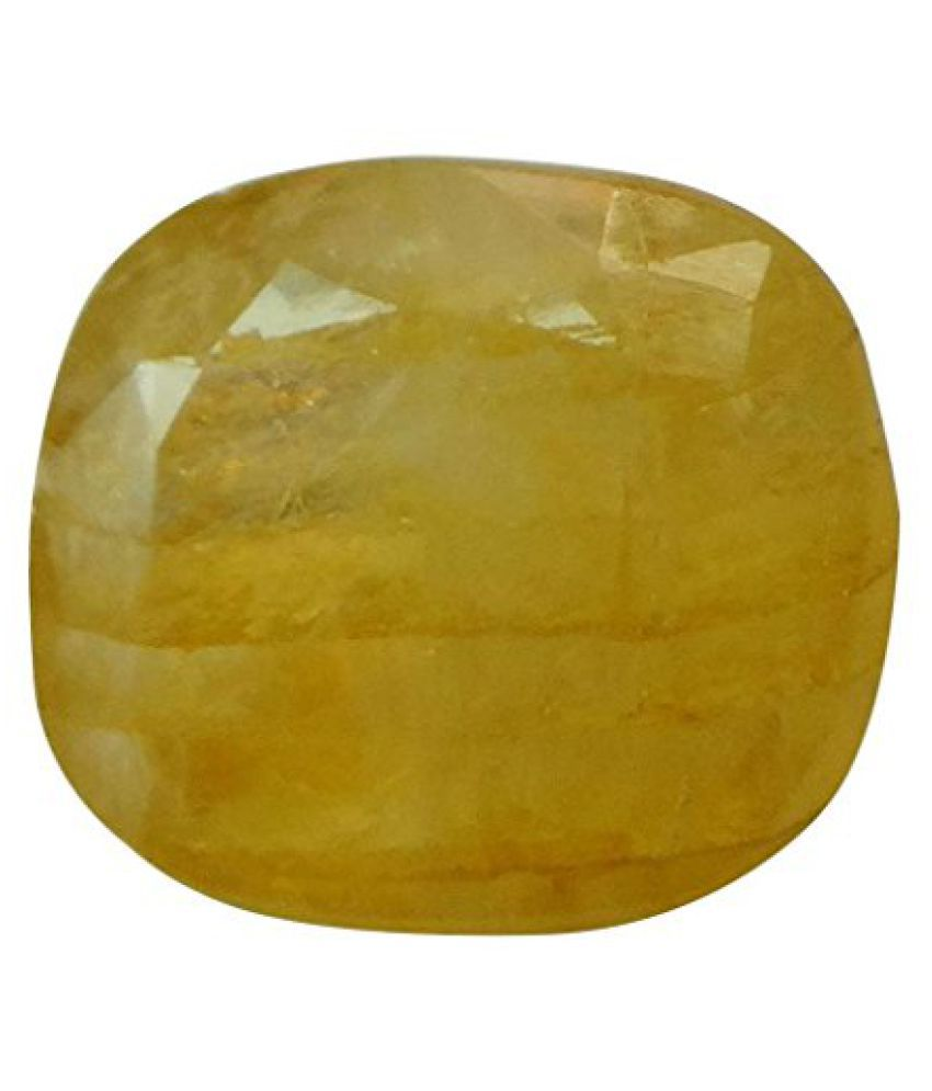 PUKHRAJ 3.12 ct. / 3.47 Ratti Natural & Certified Yellow Sapphire (Pukhraj) BIRTHSTONE BY ARIHANT GEMS AND JEWELS