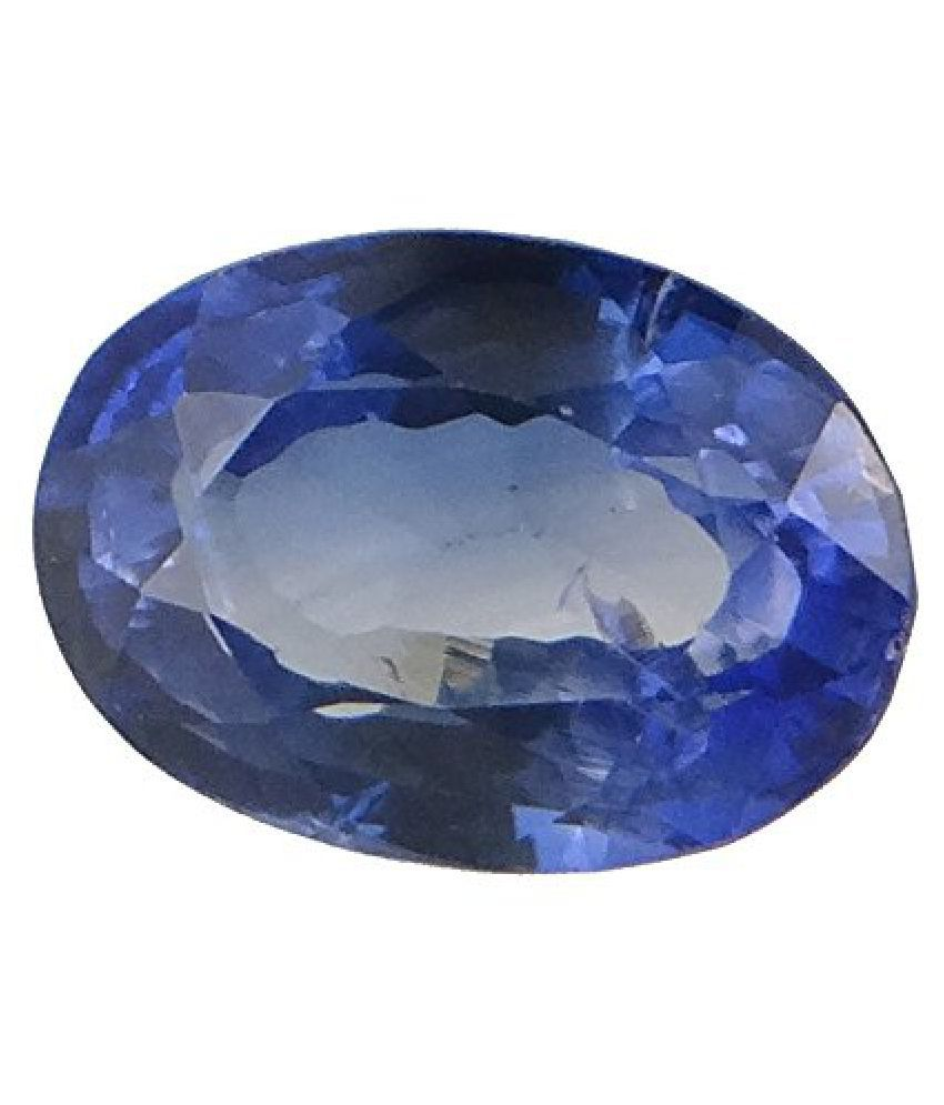SAPPHIRE 6.95 ct. / 7.72 Ratti SYNTHETIC SAPPHIRE Certified GEMSTONE BY ARIHANT GEMS AND JEWELS