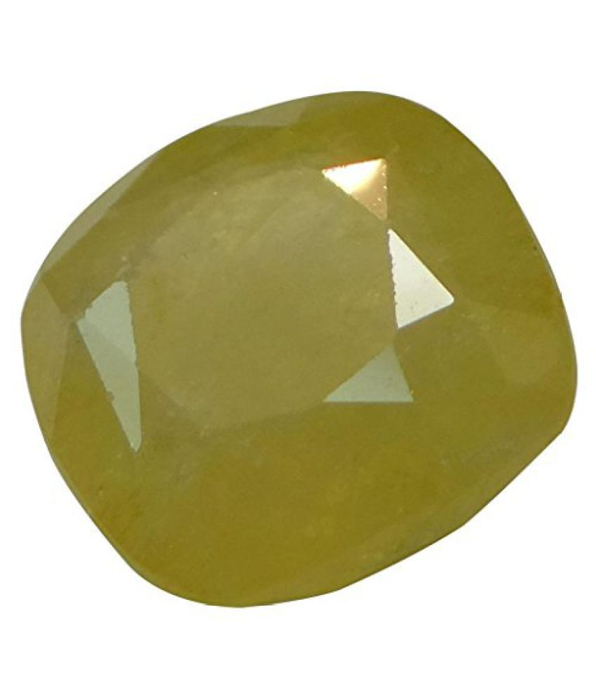 PUKHRAJ 5.41 ct. / 6.01 Ratti Natural & Certified Yellow Sapphire (Pukhraj) BIRTHSTONE BY ARIHANT GEMS AND JEWELS