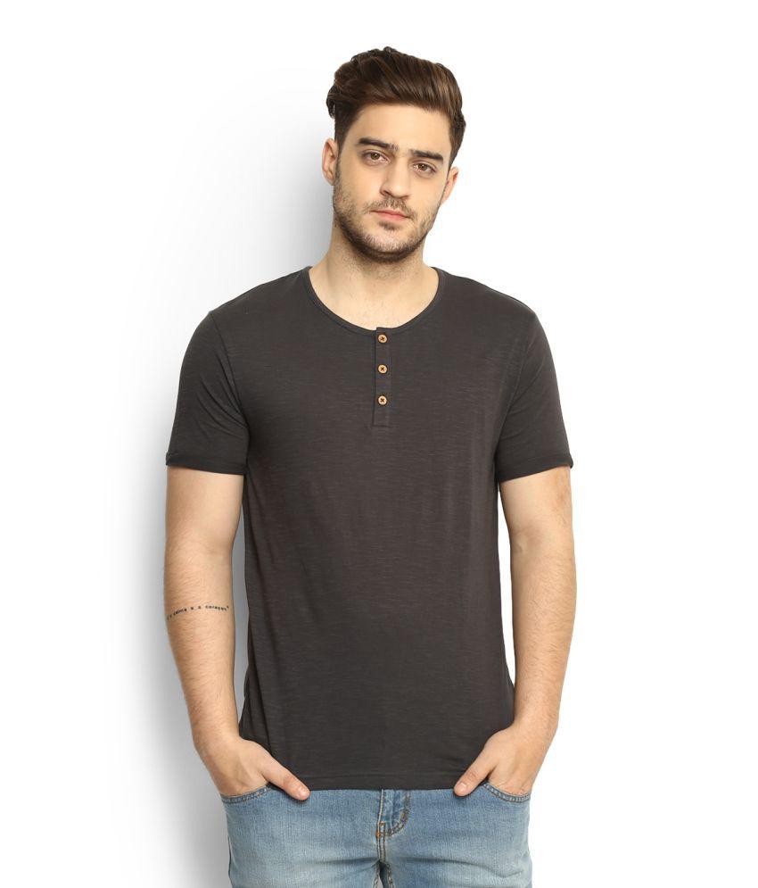 People Black Henley T-Shirt