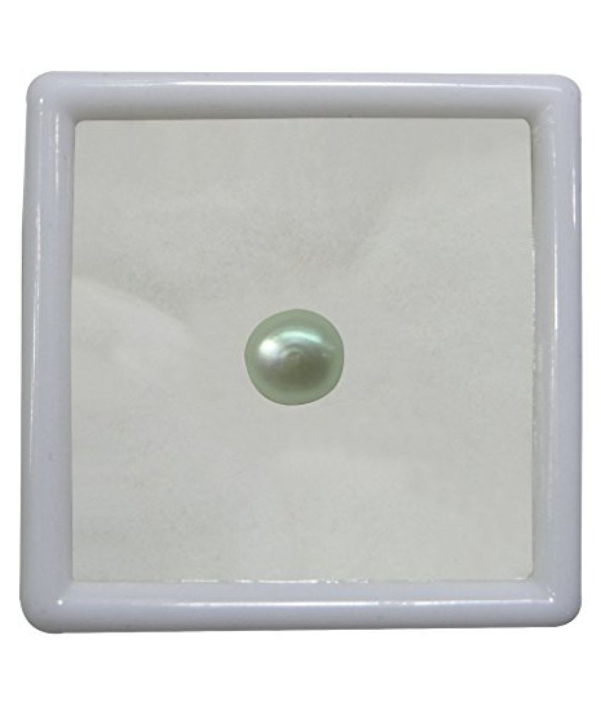 PEARL 6.51 ct. / 7.23 Ratti PURE & IIGS CERTIFIED PEARL (MOTI) ASTROLOGICAL BIRTHSTONE BY ARIHANT GEMS AND JEWELS