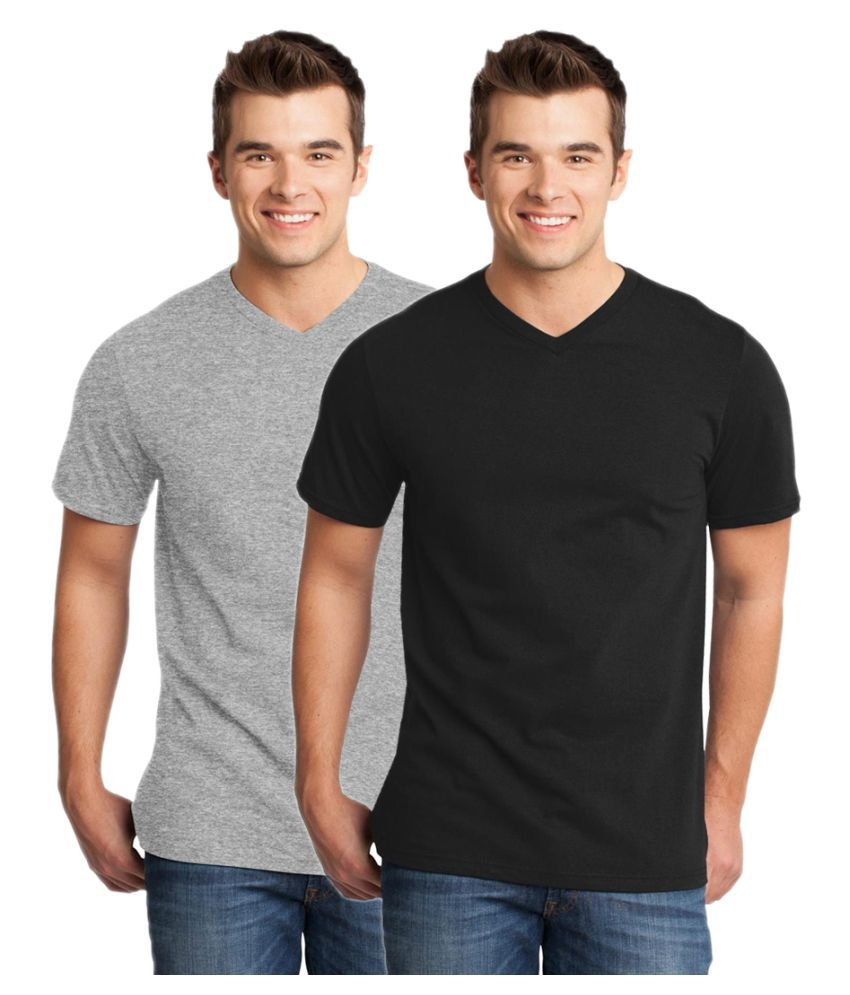 Gallop Multi V-Neck T-Shirt Pack of 2