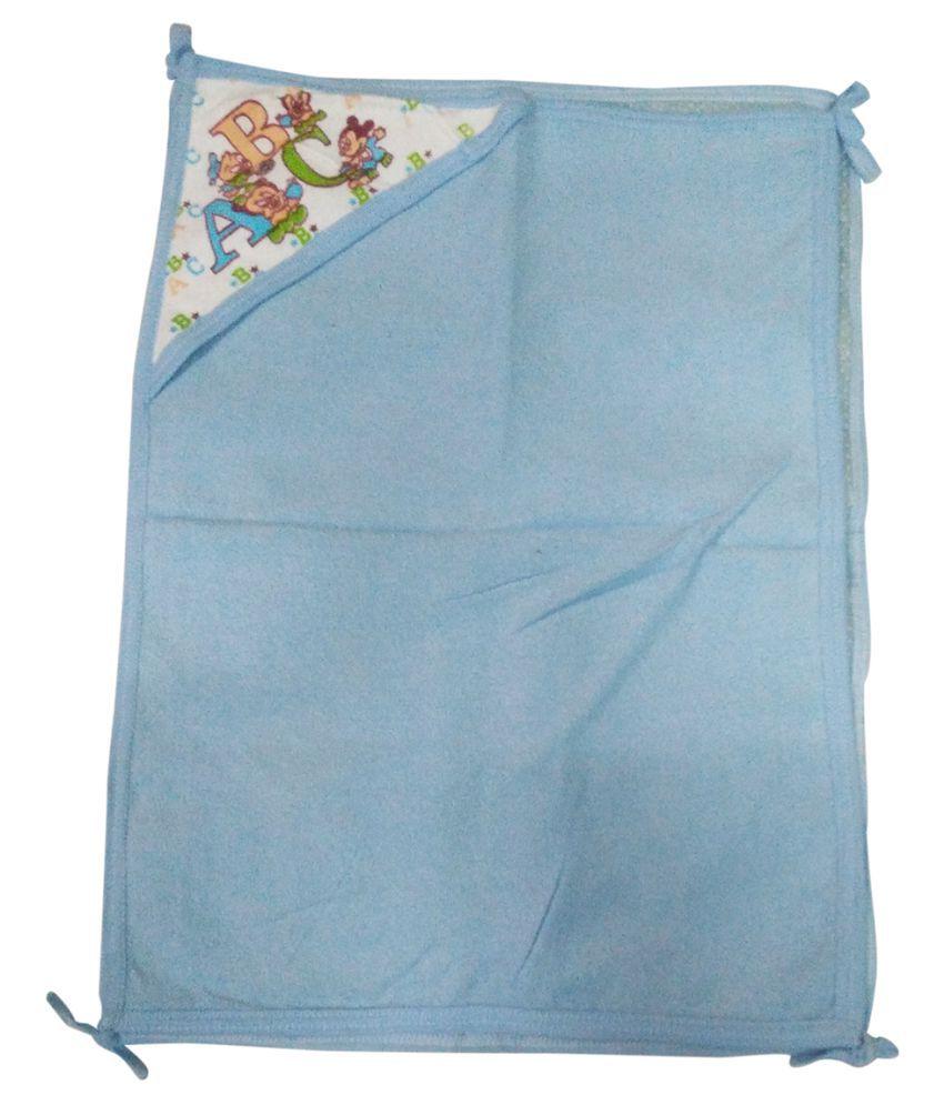 Gold Dust Blue Swaddle cloth Baby Wrap cum blanket ( 60 cm × 45 cm - 1 pcs)