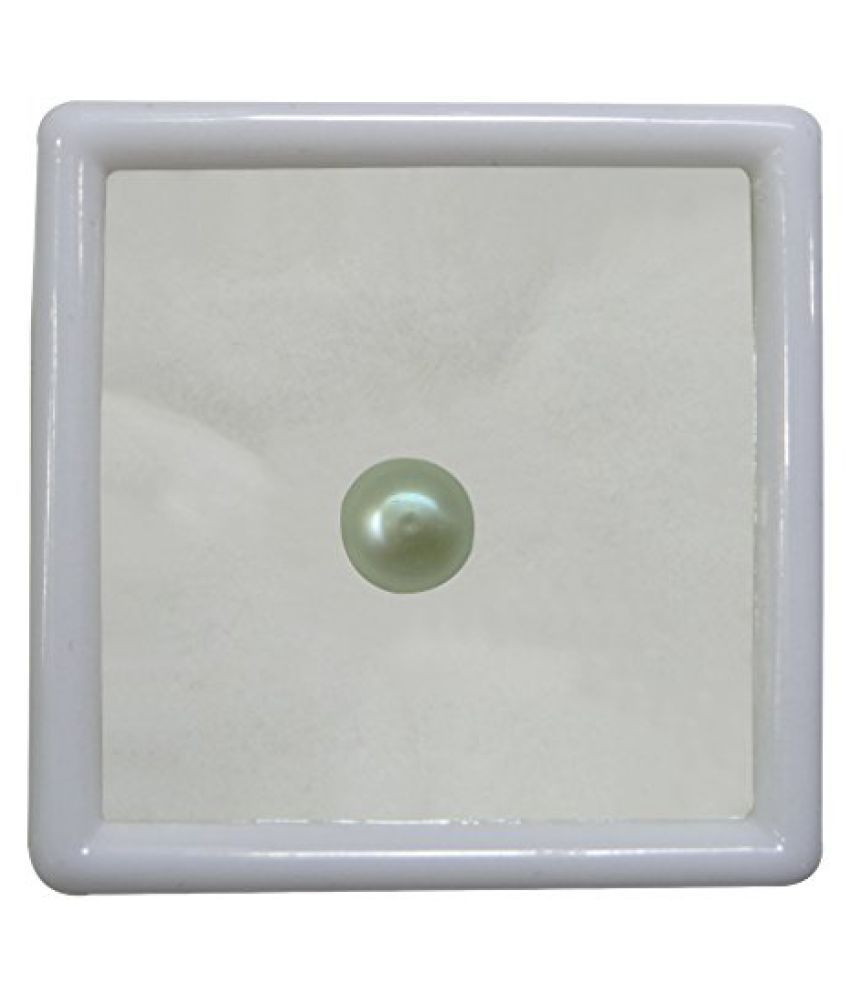 PEARL 6.27 ct. / 6.97 Ratti PURE & IIGS CERTIFIED PEARL (MOTI) ASTROLOGICAL BIRTHSTONE BY ARIHANT GEMS AND JEWELS