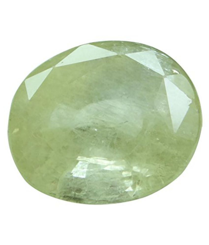 PUKHRAJ 8.94 ct. / 9.93 Ratti Natural & IIGS Certified YELLOW SAPPHIRE (PUKHRAJ) BIRTHSTONE BY ARIHANT GEMS AND JEWELS