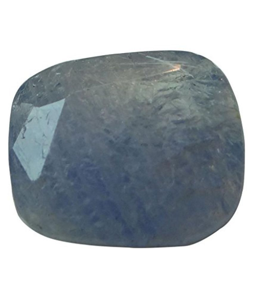 NEELAM 5.51 ct. / 6.12 Ratti Natural & Certified Blue Sapphire (Neelam) BIRTHSTONE BY ARIHANT GEMS AND JEWELS