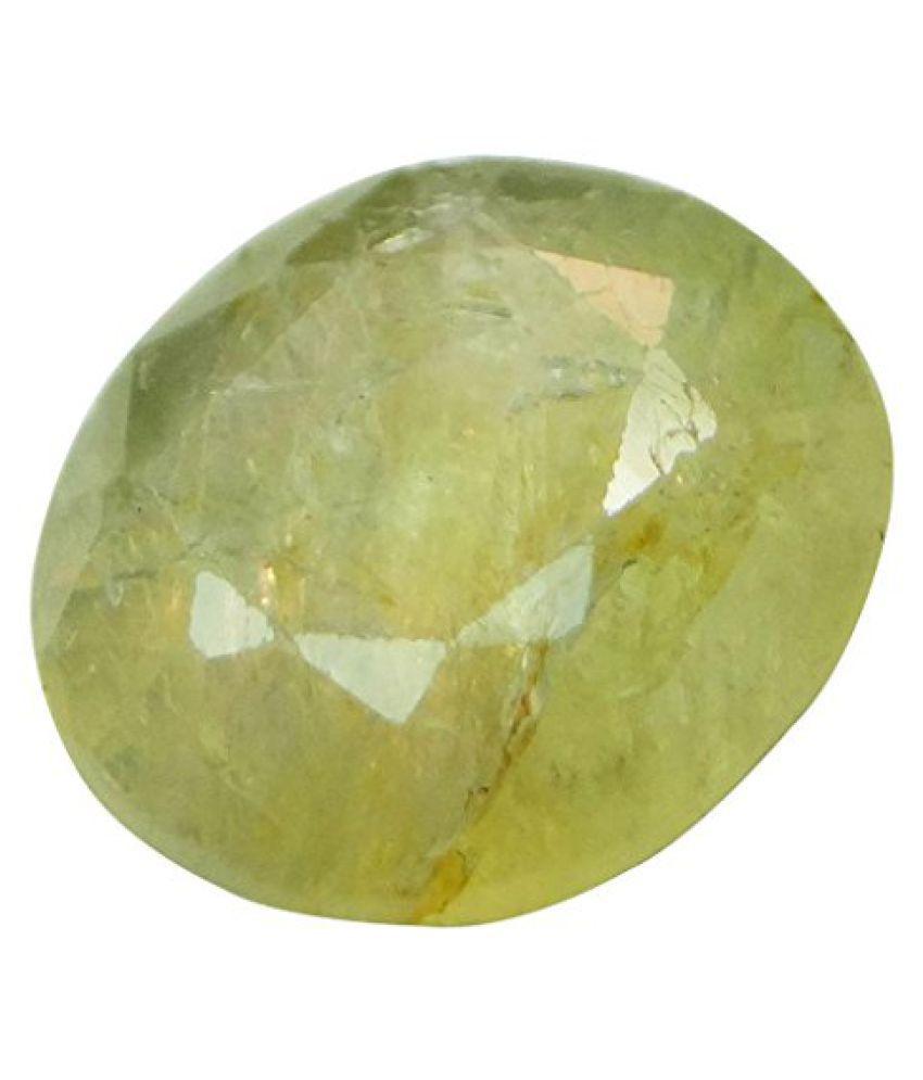 PUKHRAJ 3.67 ct. / 4.08 Ratti Natural & Certified Yellow Sapphire (Pukhraj) BIRTHSTONE BY ARIHANT GEMS AND JEWELS