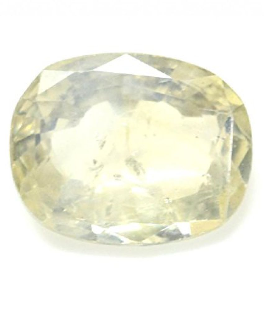 PUKHRAJ LOOSE 100% NATURAL & CERTIFIED 4.54 ct. YELLOW SAPPHIRE BIRTHSTONE BY ARIHANT GEMS AND JEWELS