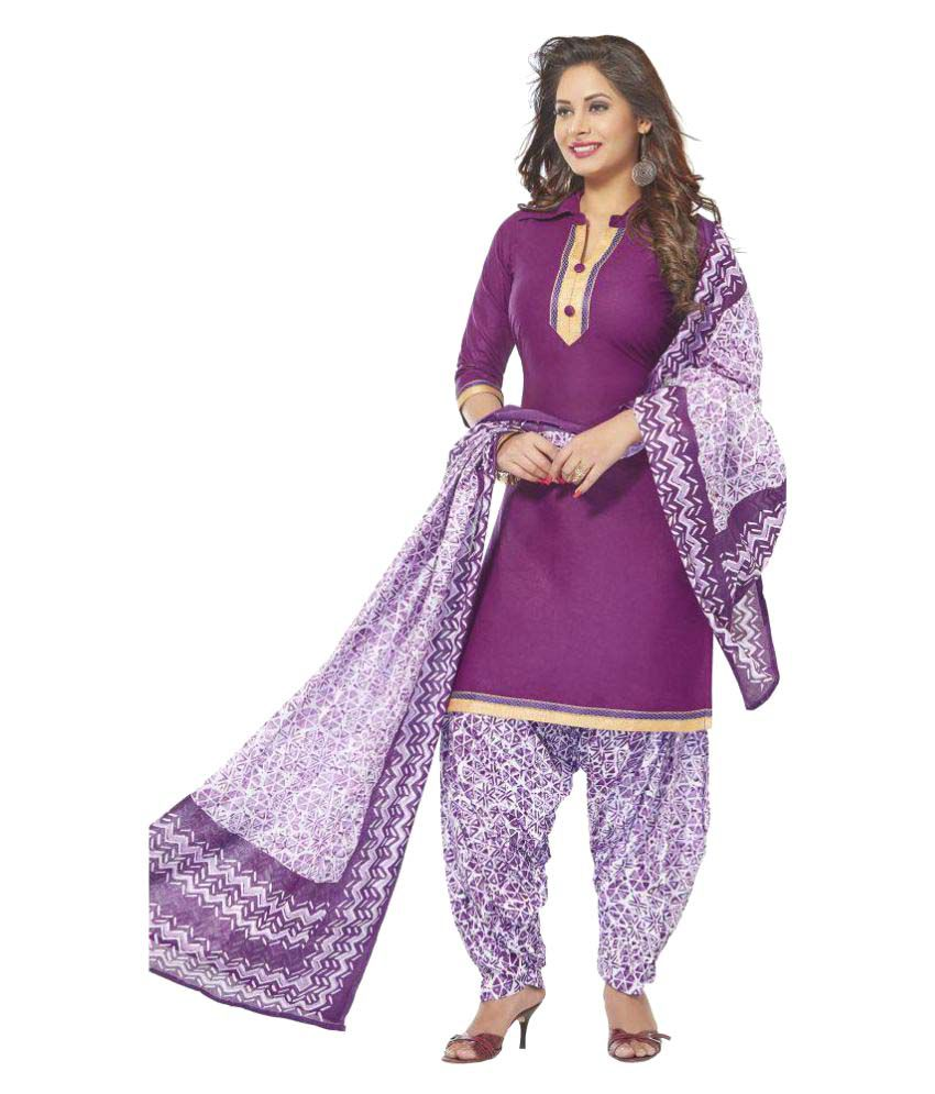 bb69cb04e5 Baalar Grey and Purple Cotton Dress Material - Buy Baalar Grey and Purple Cotton  Dress Material Online at Best Prices in India on Snapdeal