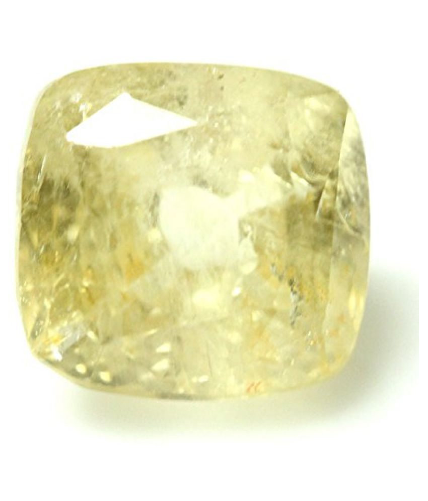 LOOSE 100% NATURAL & CERTIFIED 5.13 ct. YELLOW SAPPHIRE BIRTHSTONE BY ARIHANT GEMS & JEWELS