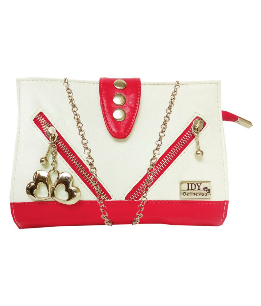 Anglopanglo Red P.U. Sling Bag