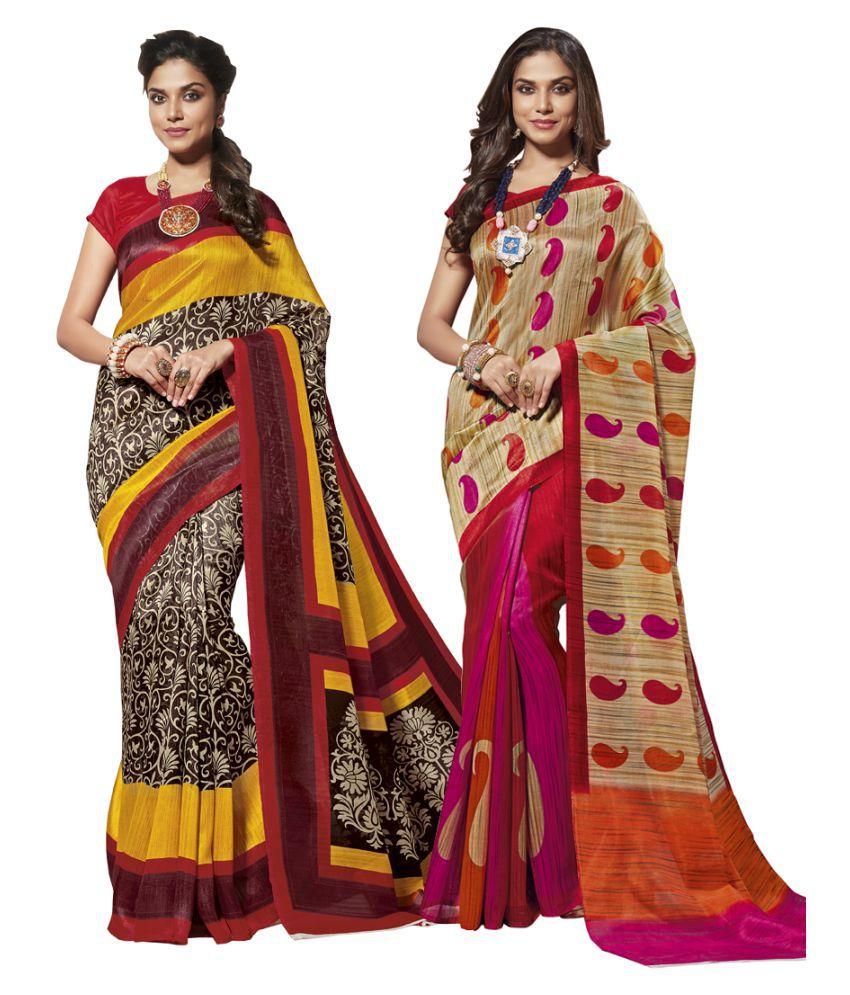 Shangrila Designer Multicoloured Cotton Saree Combos