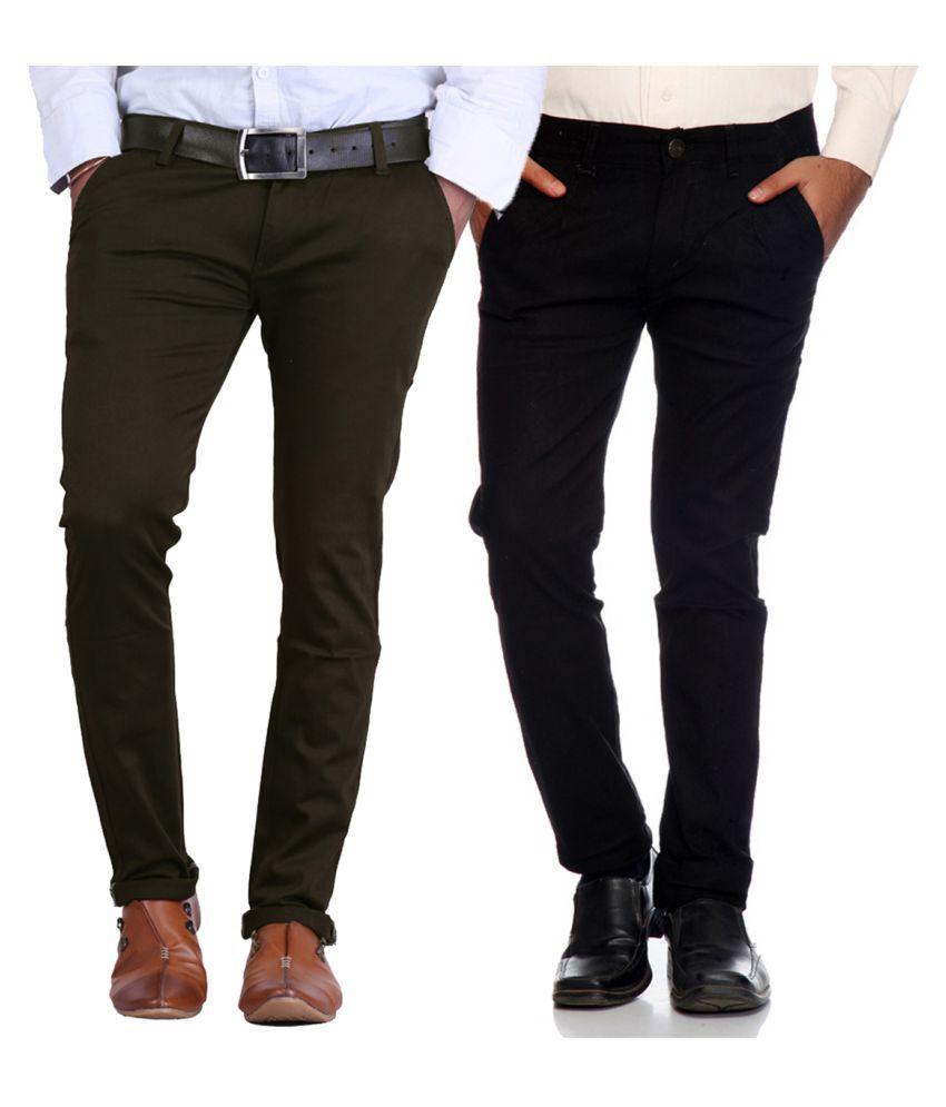 Van Galis Multicolored Regular Flat Trousers