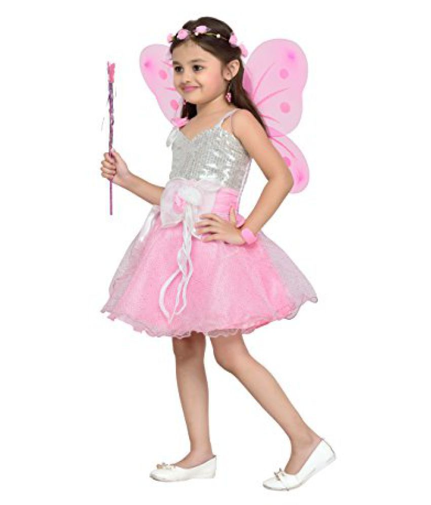 83382e896892b ... Aarika Girl's Birthday/Christmas Special Premium Net Fabric Frock with Butterfly  Wings ...