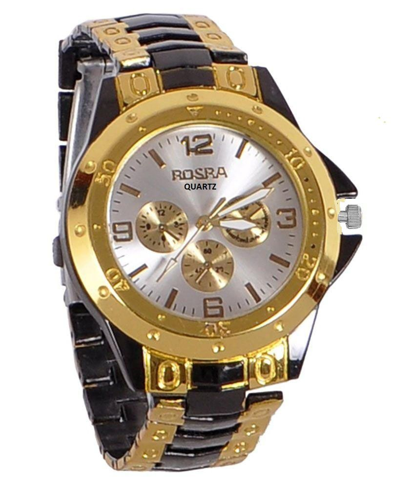 watches golden men dp yellow full watch com amazon steel finish gold kronos king real elegant diamond