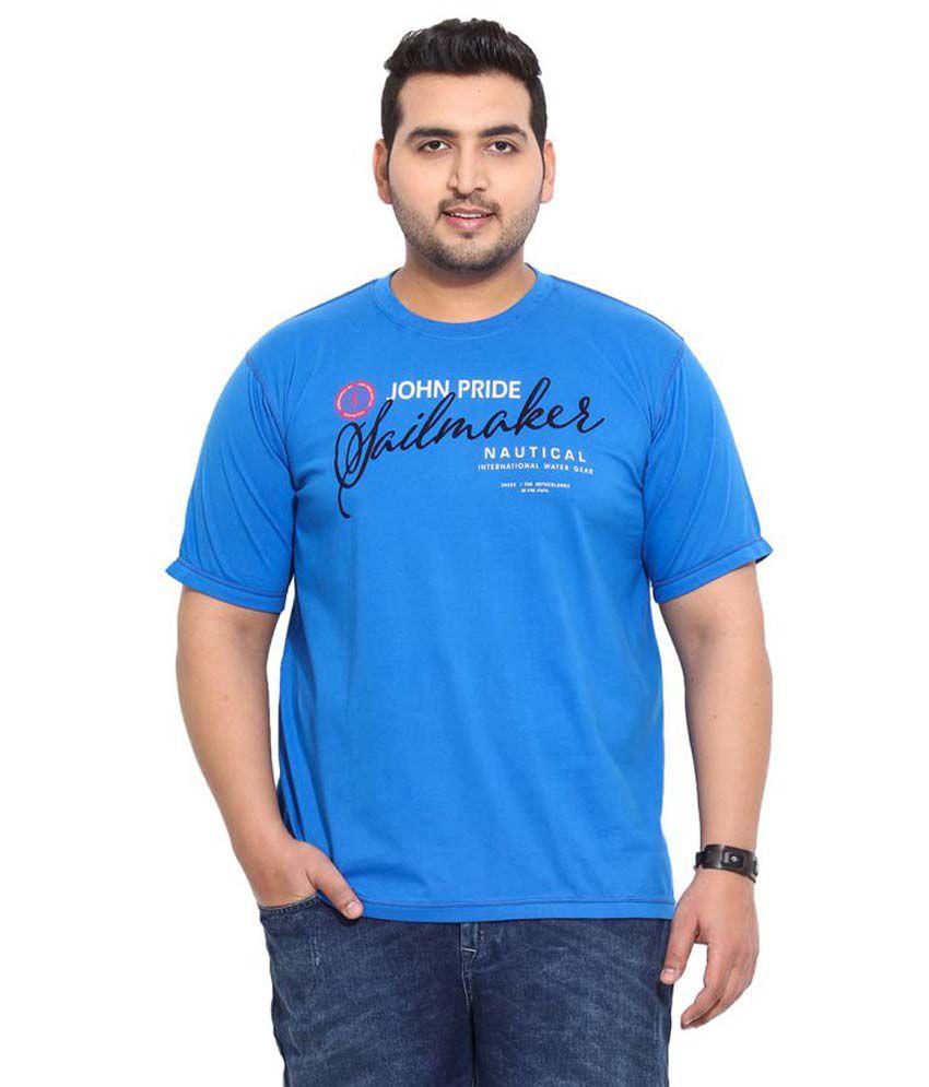 John Pride Blue Round T-Shirt