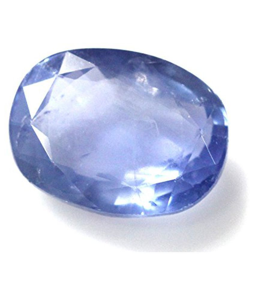 NEELAM LOOSE 100% NATURAL & CERTIFIED 8.40 ct. BLUE SAPPHIRE BIRTHSTONE BY ARIHANT GEMS AND JEWELS